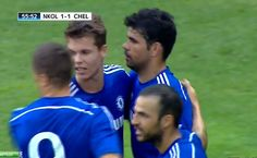 Fabregas & Diego Costa Link Up For Costa's First Chelsea Goal