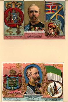 W. Duke Sons & Co.'s Duke's and Turkish Cross-Cut Cigarettes – The Rulers, Flags, Coats of Arms – Loose Cards (1888)