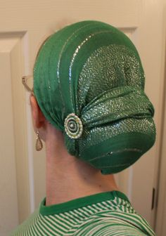 .Love this Green & Silver Head Scarf
