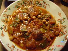 Stew of Tunisian Meat (Liftiyya) - Recipes Tunisia Recipe, Tunisian Food, Baked Chicken Recipes, Middle Eastern Recipes, Dinner Dishes, Mediterranean Recipes, International Recipes, Love Food, Cooking