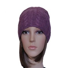 Knitted Wool Cable Beanie - Women s Knit Hat for Fall Winter Winter  Accessories 91877c42bf5d