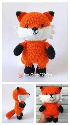 Crochet Toys, Free Crochet, Step By Step Crochet, Cute Fox, Learn To Crochet, Free Pattern, Hello Kitty, Crochet Patterns, Fun Stuff