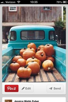Old truck and pumpkins :)