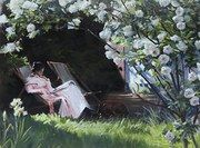 antique art, paintings, pictures marc grimshaw reading in the