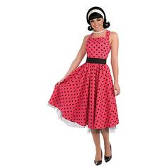 Petticoat Kleid Damenkostüm pink - S/M Costume Année 80, Sock Hop Costumes, 1950s Costume, Girl Costumes, Adult Costumes, Costumes For Women, Housewife Costume, 50s Housewife, Fancy Dress