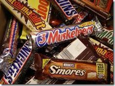Candy Bar Game. Our family plays this EVERY year at Thanksgiving! We usually put in BIG bars to make it more exciting! Even the oldest person wants to play this game! More