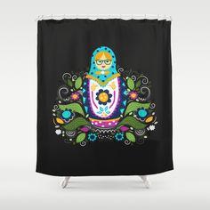 Modern Matryoshka Shower Curtain