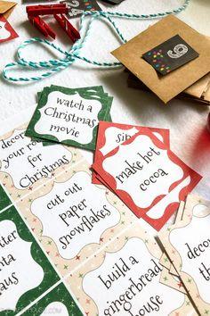 Advent Calendar Activities, Advent Calendar Fillers, Advent Calenders, Diy Advent Calendar, Calendar Calendar, December Calendar, Calendar Printable, Fun Activities, Christmas Calendar