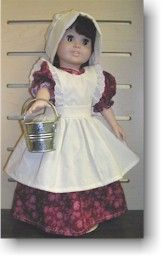 Buy Laura Ingalls WIlder style prairie clothes for your American Doll here
