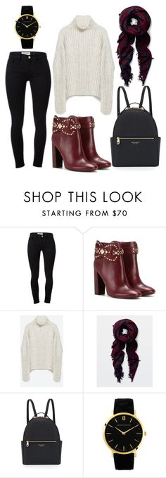 """#4"" by jenell20 on Polyvore featuring Frame Denim, Tory Burch, Zara, Henri Bendel, Larsson & Jennings, winterfashion and fall2015"