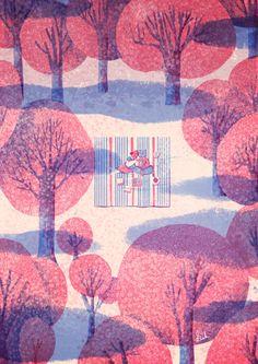 Spring by Lisk Feng, via Behance