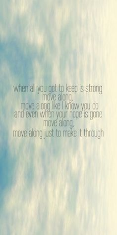 From Move Along by The All-American Rejects