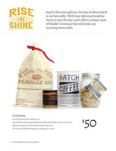 Still our most popular gift - it's the Rise N Shine gift batch!