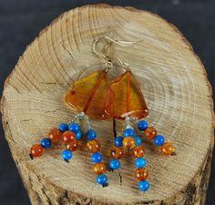 Genuine Baltic Amber Earrings Cognac Amber Semi by AmberGiftLT