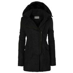 Black Fleece Coat (€64) ❤ liked on Polyvore featuring outerwear, coats, black coat, fleece coat and black fleece coat