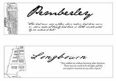 Pemberley - Longburn, bookmarks to download, via Hey Little Birdie