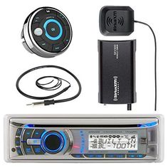 Marine Audio Bundle Package - Dual Electronics AMB600W Boat Bluetooth CD/MP3 Stereo Receiver Combo With MWR15 Waterproof Wired Remote Control + SiriusXM SXV300v1 Satellite Radio Tuner Kit + Antenna