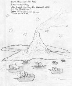 """23/05 Tolkien - one white tree ... """"Tall ships and tall kings/ Three times three./ What brought they from the/ foundered land/ Over the flowing sea?/ Seven stars and seven stones/ And one white tree"""