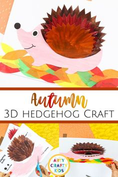 Looking for a paper 3D hedgehog craft for kids to make at home or at school? These easy 3D hedgehog crafts for kids are perfect for fall   simple to make with our printable template. Get templates   videos   instructions for these easy hedgehog crafts for kids ideas   other fall animal crafts for kids here! Fall Hedgehog Crafts for Kids | Fall Crafts for Kids Woodland Animals | Cute Paper Hedgehog Crafts for Kids | Woodland Animal Crafts for Kids #HedgehogCrafts #KidsCrafts #FallCrafts Fall Crafts For Toddlers, Easy Fall Crafts, Thanksgiving Crafts For Kids, Easy Arts And Crafts, Fun Diy Crafts, Halloween Crafts For Kids, Crafts For Kids To Make, Arts And Crafts Projects, Preschool Crafts