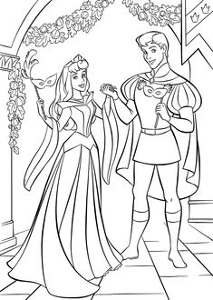 sleeping beauty ball coloring pages for kids printable free - Sleeping Beauty Coloring Pages
