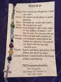 Psalm 23 Bracelet by TkTreasuresJewerly on Etsy