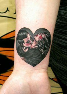 Vampire kiss tattoo @Aces High Tattoo Studio Hull