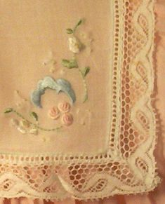 heirloom embroidery closeup