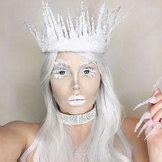 31 Casual Princess Makeup Halloween Ideas To Try Asap Ice Makeup, Glam Makeup, Bridal Makeup, Princess Makeup, Ice Princess, Snow Queen Makeup, Snow Makeup, Organizer Makeup, Ice Queen Costume