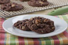 Double Chocolate Cookies made w/Cake Mix   MrFood.com