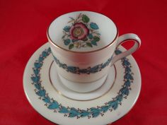 Wedgewood Demitasse Tea Cup and Saucer W3939 by QualityRetroWare