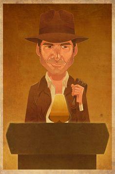 Indiana Jones by James Gilleard