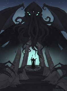 Rise of Cthulhu by IrenHorrors on DeviantArt Rise of Cthulhu by IrenHorrors on DeviantArt<br> Cthulhu Tattoo, Cthulhu Art, Call Of Cthulhu Rpg, Hp Lovecraft, Lovecraft Cthulhu, Arte Horror, Horror Art, The Shadow Over Innsmouth, The Dunwich Horror