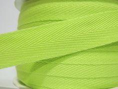 5 yards Lime Green Wide Herringbone Tape 3/8 Lime by ichimylove