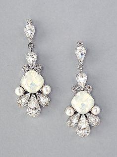 Clásico Cristal Estrás Pendientes con Clip Lágrima Diamante Espárragos para Mujer