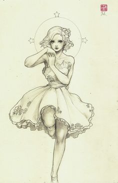 Sketch fashion illustration. #art #drawing
