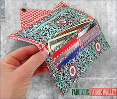 Fabulous Fabric Wallet: Double Bill Pockets, Six Card Pockets & Zippered Coin Pocket | Sew4Home