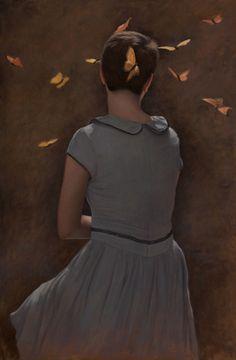 "sydney bella sparrow ""Sun Spots"" Oil on canvas."
