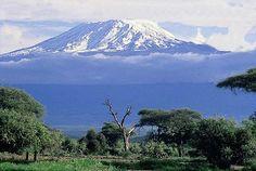 Vistas del Monte Kilimanjaro Nevado