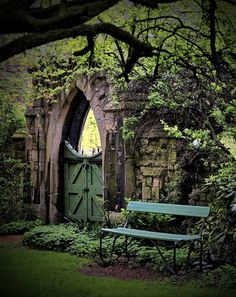 Garden Wall Gate... So pretty!