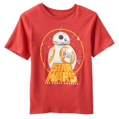 Boys 4-7 Star Wars The Force Awakens BB-8 Graphic Tee, Boy's, Size: medium (7), Med Red