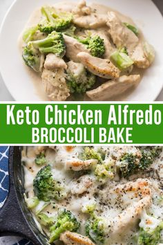 Mouthwatering Creamy Keto Chicken Alfredo with Broccoli Bake is the ultimate comfort food that is easy to make, low carb, and delicious. Pair with a simple garden salad or low carb pasta alternative. Keto Dinner Recipes for Rapid Weight Loss Poulet Keto, Keto Alfredo Sauce, Alfredo Sauce Recipe Easy, Pasta Alfredo, Chicken Broccoli Alfredo, Broccoli Cauliflower, Steamed Broccoli, Low Carb Recipes, Food Dinners