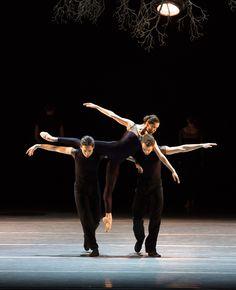 Lia Cirio, Altan Dugaraa, and Paulo Arrais in Jiri Kylian's Wings of Wax by Rosalie O'Connor