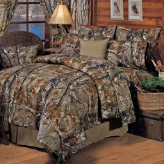Camo Bedding 4-Piece Realtree Comforter Set-Queen #Country