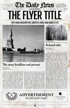 Page Newspaper Illustrator  Newspaper And Template