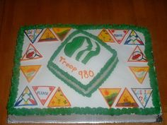 Cute Girl Scout Cakes Ideas | Girl Scout Brownie Try It Badges — Misc. Sports