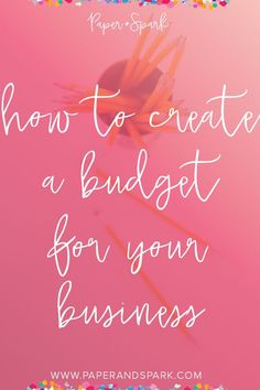 As a creator, or a handmade business owner it can be easy to get distracted with the latest shiny object and take your finances off course. Let's figure out how to make a budget for your business.These 7 steps to creating a budget and how to set boundaries with spending money in your creative business.- Paper + Spark Business Planning, Business Tips, Online Business, Etsy Business, Business Women, Making A Budget, Create A Budget, Creating A Business, Starting Your Own Business