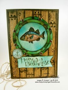 Narelle Fasulo - Independent Stampin' Up! Demonstrator.  (Pin#1: Sea Life/... Pin+: Woodgrain; Masculine: Fishing).