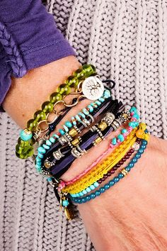 Stack each day with Positivity in Color.