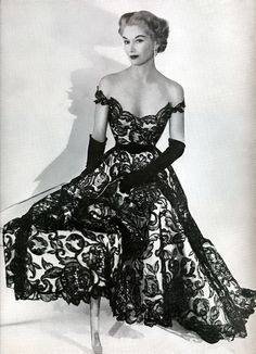 Lovely black lace dress from approx 1951