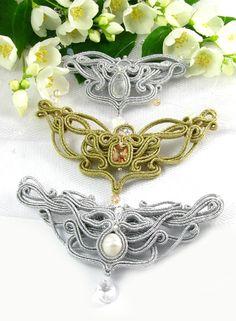 Biżuteria ślubna sutasz PiLLow Designsutasz, sutaszowa, biżuteria ślubna, soutache, ślubne, kolczyki sutasz, do ślubu, komplet